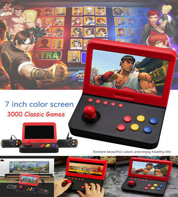 Portable 7 inch Arcade Game Retro Machines Built-in 3000 Classic Video Games New