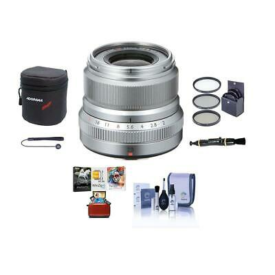 Fujifilm XF 23mm (35mm) F/2R WR Lens, Silver With Free Mac Software Package