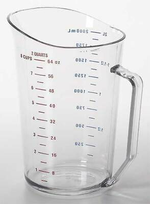 CAMBRO CA200MCCW135 Liquid Measuring Cup, 2 Qt.,Clear,PK12