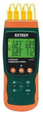 EXTECH SDL200 Thermocouple Thermometer,4 Input