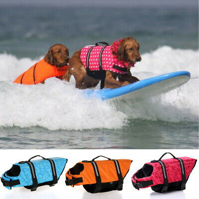 Reflective Dog Life Jacket Safety Vest Small Large Pet Puppy Swimming Preserver