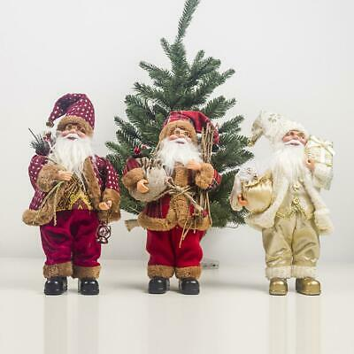 Lovely Traditional Father Merry Christmas Santa Claus Dolls Craft Home Decoratio