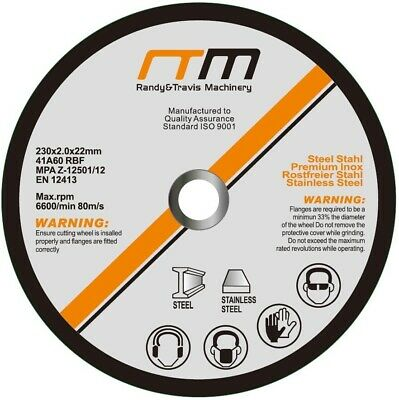 "100 x 230mm 9"" CUTTING DISC WHEEL for ANGLE GRINDER - Grinder Disk Blade"