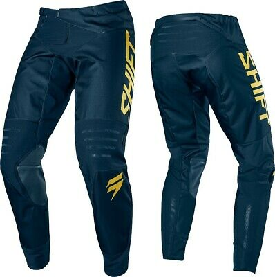 Shift Limited Edition 3LACK LABEL Motocross MX Race Pants NAVY GOLD Adult