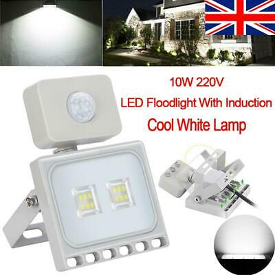 10W LED FloodLight PIR SMD Spot Lamp Bulb Landscape Outdoor Garden Yard 220V