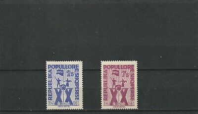a90 - ALBANIA - SG686-687 MNH 1961 20th ANNIV YOUNG COMMUNIST UNION