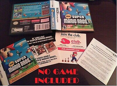 NO GAME OEM Nintendo DS New Super Mario Bros. Replacement Case & Manual Only