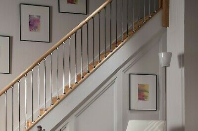 Pack of 5 AXXYS Contemporary Metal Spindles Brushed Nickel Stair or Landing