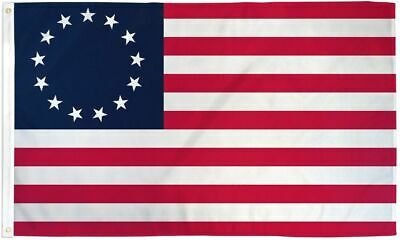 (3 Pack) Betsy Ross Flag USA 1776 Banner United States America Pennant 3x5