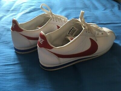 best website 4c1b5 6b17f NIKE CORTEZ TRAINERS White size 10 red swoosh tick - Marty McFly Forest Gump