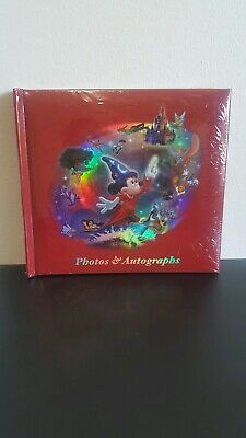 SEALED Walt Disney World Photo Album And Autograph Book Red Mickey Mouse Wizard
