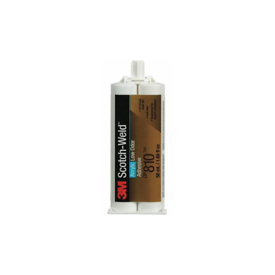 3M™ Scotch-Weld™ Low Odor Acrylic Adhesive DP810, Black, 48.5 mL Duo-Pak