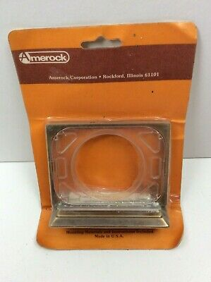 Vintage Amerock Toothbrush & Cup Holder Wall Antique Brass Finish New in Package