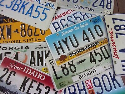 Lot of 10 Mixed State License Plate Tags Arts/Crafts Collectables Set #1