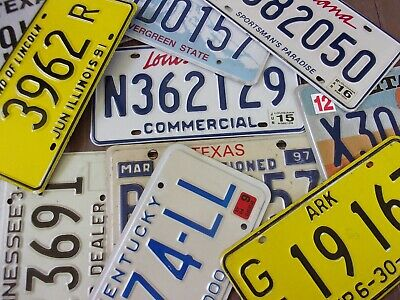 Lot of 10 Mixed State License Plate Tags Arts/Crafts Collectables Set #2