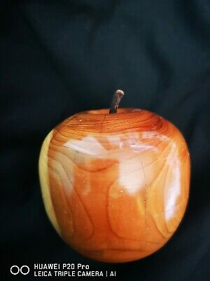 Wooden Treen Carved Apple Ornament