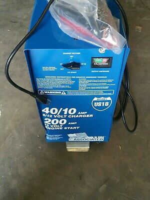 ASSOCIATED EQUIP Steel Battery Charger/Starter US18 40/10 amp, 200 Amp (MS)
