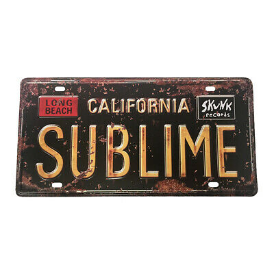 SUBLIME License Plate Band Music Ska Rock Car Auto Tag Embossed Tin Metal Gift