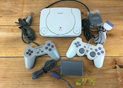 Original Sony Playstation PSone Console SCPH-101 w/ Controllers, Power Supply