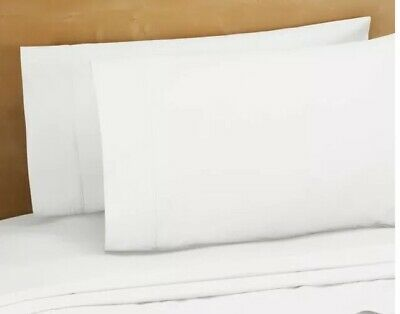 New 220 Thread Ct 100% Cotton Percale Standard Pillowcases White Bed Bath Beyond