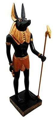"Ebros Resin Ancient Egyptian Deity of Mummification Afterlife God Anubis 12"" H"