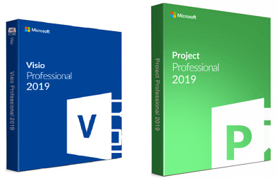 Instant MS Project Professional 2019 and Visio PRO 2019 FOR 1 PC GENUINE