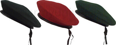 Military Army Wool Monty Beret with Drawstring