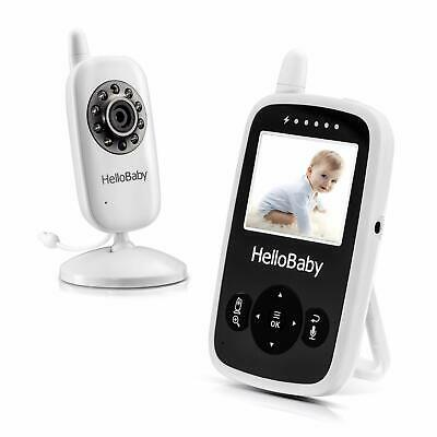 HelloBaby 2.4inch Digital Color LCD Screen Baby Monitor with up to 900 ft of Two