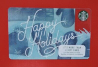 Starbucks Usa Happy Holidays 2017 Gift Card. No Value Collectors Item