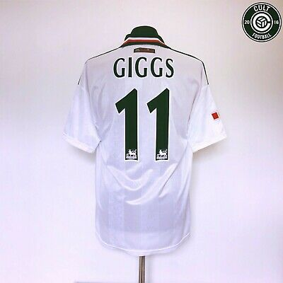 GIGGS #11 Manchester United Umbro Away Football Shirt Jersey 1998/99 (L) Treble