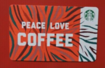 Starbucks Usa Peace Love Coffee 2018  Gift Card.no Value. Collectors Item