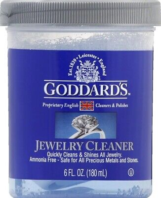 Jewelry Cleaner Clean All Jewelry Gold Silver Diamonds Stones  Goddards Liquid