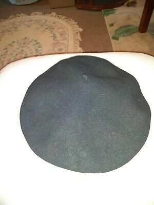 ca0ab7e9f VINTAGE HOQUY BERET 100% Wool Made in France Beret De Luxe Large