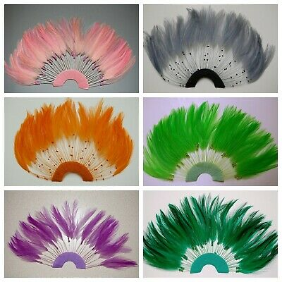 HALF PINWHEELS FEATHERS - Top Quality HACKLE; MANY COLORS (Halloween/Costume)