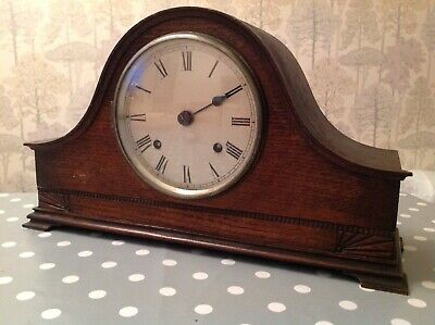 Antique Mantle Clock Nelson Hat Two Train Chiming For Repair 40x23x13cm