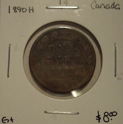 Canada Victoria 1890H Large Cent - G+