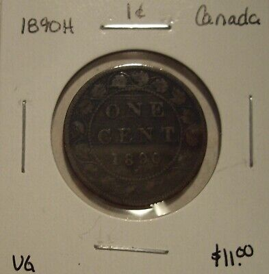 Canada Victoria 1890H Large Cent - VG