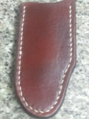 Leather Pocket Knife Case Sheath Handmade in Texas Large Old Timer, Buck 110