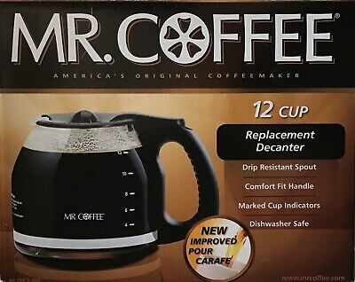 Mr Coffee Replacement Carafe 12 Cup Coffeemaker Capacity PLD12-NP