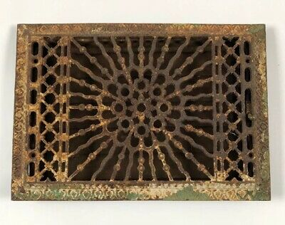 Vtg Metal Heat Air Register Wall Floor Metal Grate Cover & Vent 8x12 Opening
