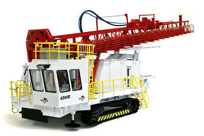 TWH Collectibles 022-01050 1:50 Bucyrus 49HR White with Red Mast Blasthole Drill