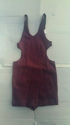 RARE! NRA Brand Dead Stock, NOS 1920s Young Mens,Boys,Wool Maroon Bathing Suit.