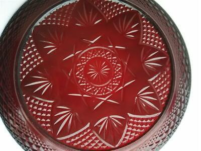 """Lot of 2 Vintage Ruby /Cranberry Red Glass France 10 1/4"""" Dinner Plates Lot of 2"""
