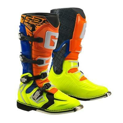 Gaerne G React Mens Boots Moto - Orange Blue Yellow All Sizes