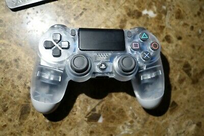 Genuine Sony Ps4  Playstation 4 Crystal Clear Translucent Dualshock Controller