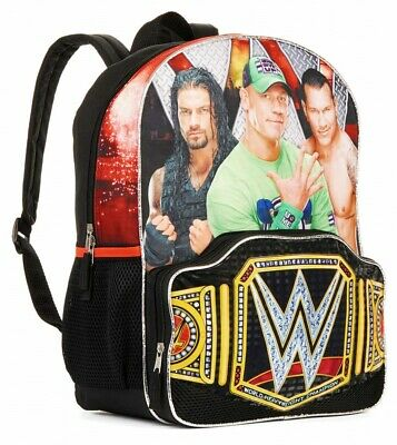 "WWE CENA REIGNS ORTON 16"" Full-Size Boys Backpack w/Optional Insulated Lunch Box"