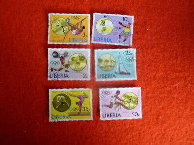 Olympics Games   Liberia 6 Stamps Used