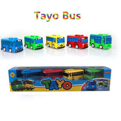 4Pcs/Set The Little Bus TAYO Friends Special Cars Toys Tayo Rogi Gani Rani Gift