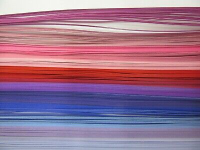 QUILLING PAPER 110gsm 1.5mm 500 Strips - 15 MIXED PINKS COLOURS