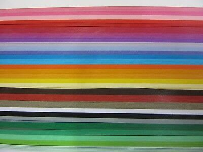 QUILLING PAPER 110gsm 9mm 500 Strips - 29 MIXED BRIGHT COLOURS